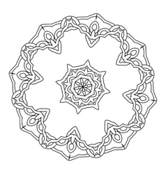 Ornamental round lace pattern abstract ornament vector