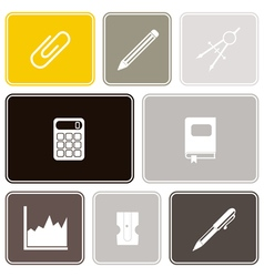 Seamless background with office icons vector