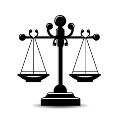 Justice scale icon vector