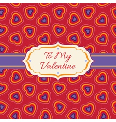 Bright background with hearts vector
