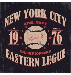 Baseball typography t-shirt graphics vector image