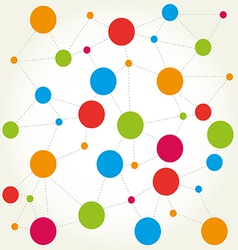 Abstract background scheme of social network vector