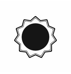 Award rosette icon in simple style vector image vector image