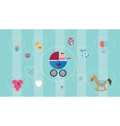 baby icon collection set with soft color and vector image