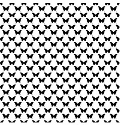 Black and white seamless butterfly pattern vector