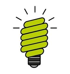 Bulb saver green icon vector