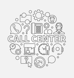 call center round customer vector image