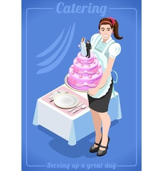 Catering services people isometric vector