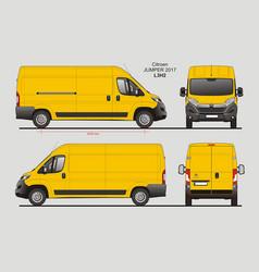 Citroen jumper cargo delivery van 2017 l3h2 vector