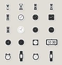 Clock web icons set vector image vector image