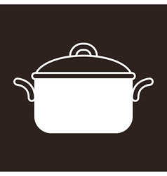 Cooking pot symbol vector