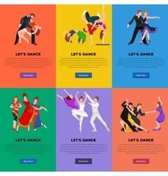 couple dancing modern dance vector image
