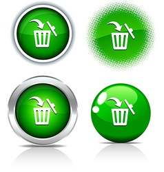 Delete buttons vector