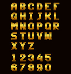 english alphabet and numbers vector image vector image