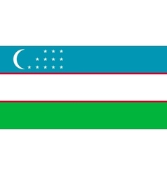 Flag of uzbekistan correct proportions and colors vector