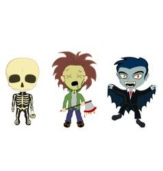 Halloween costume kids vector