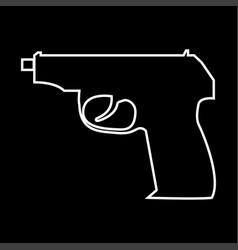 hand gun it is icon vector image vector image