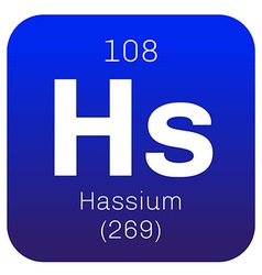 Hassium chemical element vector
