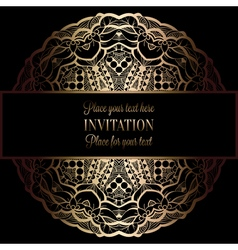 Invitation decorative golds 43 vector
