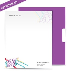 Letter head vector image