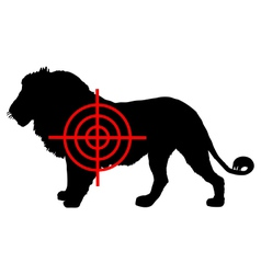 Lion crosslines vector