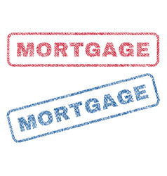 Mortgage textile stamps vector