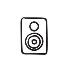 Mp3 player sketch icon vector