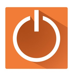 Power switch symbol vector image