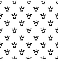 princess crown pattern vector image vector image