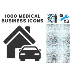 Property Icon with 1000 Medical Business vector image vector image