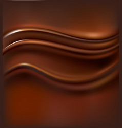 realistic dark chocolate background waves vector image vector image