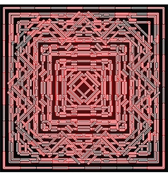 red shining abstract vector image