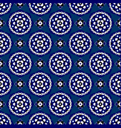 seamless - blue oriental bloom tiles vector image