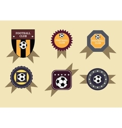 Set soccer football emblems vector image