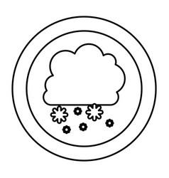 silhouette cloud snowing icon vector image vector image
