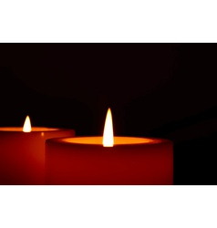 Two Candles vector image