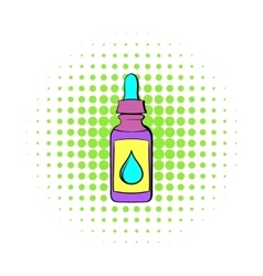 Vape juice bottle icon comics style vector