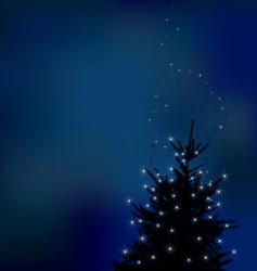 Winter background christmas tree ill vector