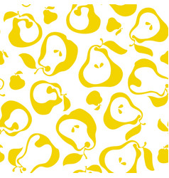 yellow simple flat peir fruit seamless pattern for vector image vector image