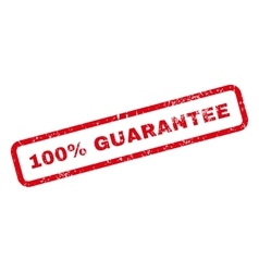 100 Percent Guarantee Text Rubber Stamp vector image