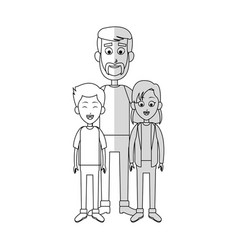 father with his kids vector image