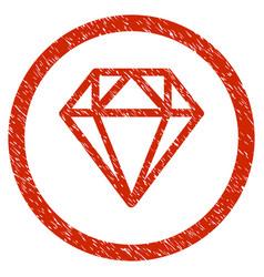 Diamond rounded grainy icon vector