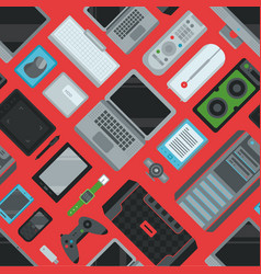 Electronic gadgets technology devices computer vector