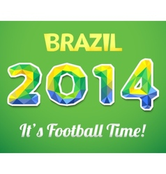Brazilian 2014 world cup for sport event vector