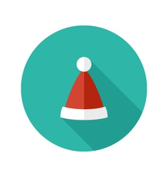 Christmas hat of santa claus flat icon vector