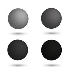 3D sphere Set of realistic balls of different vector image
