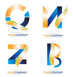 Letters logo elements vector