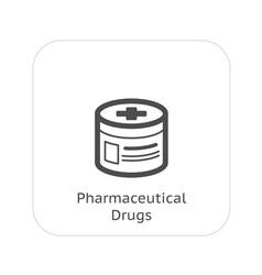 Pharmaceutical drugs and medical services icon vector