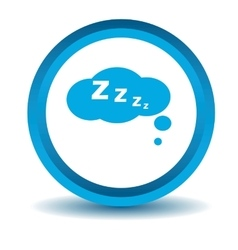Sleeping icon blue 3d vector