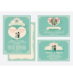 Wedding invitation design with the gate of love vector